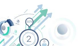 发展的动画与infographics元素的 阿尔法通道 股票视频