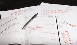 发工资日贷款 库存照片
