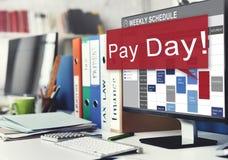 发工资日经济薪金金钱预算概念 免版税库存图片