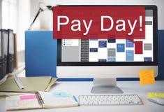 发工资日经济薪金金钱预算概念 免版税库存照片