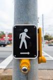 发怒步行标志和按钮 免版税库存图片