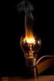 发怒的电灯泡 免版税图库摄影