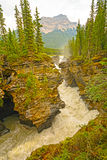 发怒的水在山河 免版税库存照片