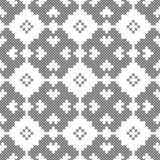 发怒针,无缝的装饰样式 刺绣和编织 几何抽象的背景 种族装饰品 库存例证