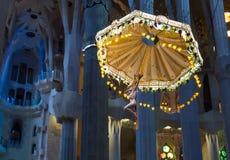 发怒雕刻的片断的基督在Sagrada Familia 图库摄影