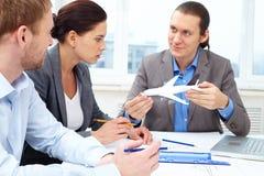 发明新的飞机 免版税库存照片