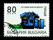 发明Diezel引擎,运输s 100th周年  免版税库存照片
