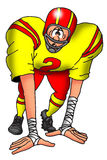 发昏的足球运动员 免版税库存图片