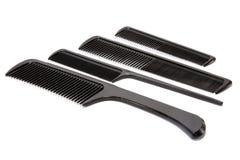 黑发梳子 免版税库存图片