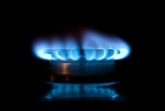 发火焰小煤气炉 图库摄影