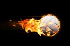 发火焰排球 免版税库存图片
