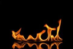 发火焰橙色火焰 免版税库存图片