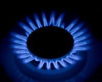 发火焰煤气炉 库存照片