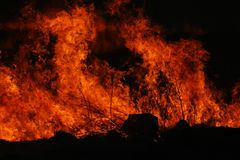 发火焰红色 免版税库存图片