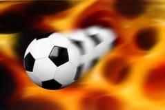 发火焰足球 免版税库存图片