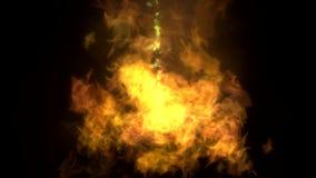 发火焰转折 库存例证