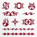 发火焰部族的tatoo 图库摄影