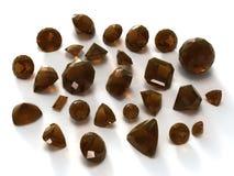 发烟性宝石的石英 库存照片
