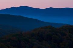 发烟性山的国家公园 免版税库存照片