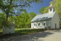 发烟性山, TN, U Cades小海湾的原始施洗约翰教堂  免版税库存图片