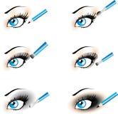 发烟性黑眼睛至善至美的图标构成的& 图库摄影