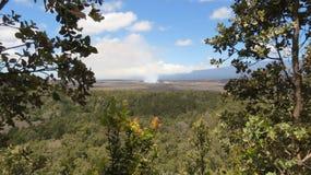 发烟性Kilauea 图库摄影