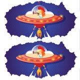发现两张图片4之间的十个区别 向量例证