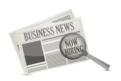 发现了在商业报纸的工作机会 向量例证