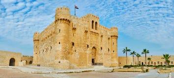 发现亚历山大,埃及中世纪城堡  库存图片