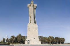 发现信念克里斯托弗・哥伦布纪念碑,蓬塔del Sebo, T 库存照片