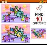 发现区别比赛动画片 库存照片