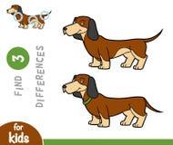 发现区别,教育比赛,达克斯猎犬 向量例证