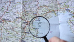 发现在地图的Venezia 股票视频