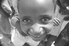 发现在她的眼睛的喜悦 库存照片