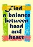 发现在理智和情感刺激行情传染媒介正面概念之间的平衡 皇族释放例证