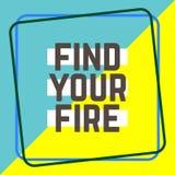 发现您的在教育、启发和企业刺激概念的火词 向量例证