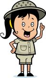 发现探险家女孩 向量例证