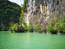 发现泰国,划皮船 图库摄影