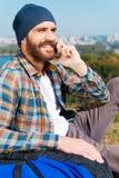 发现电话的一个链接 免版税库存照片