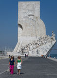 发现纪念碑在里斯本,葡萄牙 库存照片
