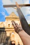 发现阁下God的人类的概念照片 免版税库存图片