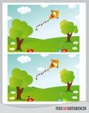 发现10区别-风筝(传染媒介) 免版税库存图片