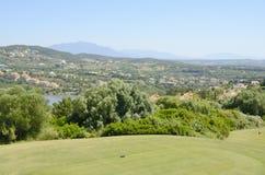 发球区域高尔夫球场 库存照片