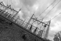 发电厂的艺术性的看法 库存照片