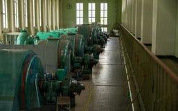 发电器在一个水电站 免版税库存图片