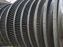 发电器在修理期间的蒸汽机在能源厂 库存图片