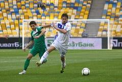 发电机橄榄球赛kyiv波尔塔瓦vorskla与 免版税库存照片