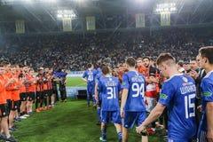 发电机球员由乌克兰决赛的失败是生气 库存照片