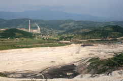 发电站在普列夫利亚 图库摄影