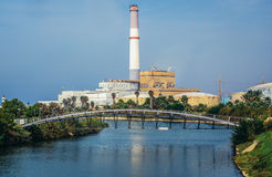 发电站在特拉维夫 免版税库存照片
